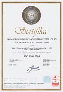 ISO 9001:2008 BELGESİ